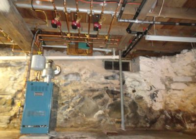Burnham Gravity Vented Boiler - Short Basement