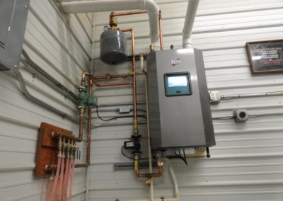 NTI Fire Tube TFT Boiler In Floor Heating - Work Shop
