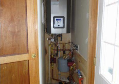 NTI TX Boiler Infloor Heating - Small Closet